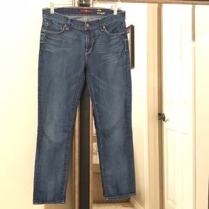 7 for all mankind slim straight cropped jeans